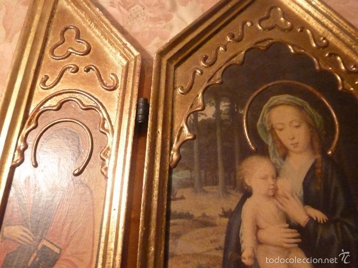Arte: triptico religioso dorado - Foto 6 - 56618075