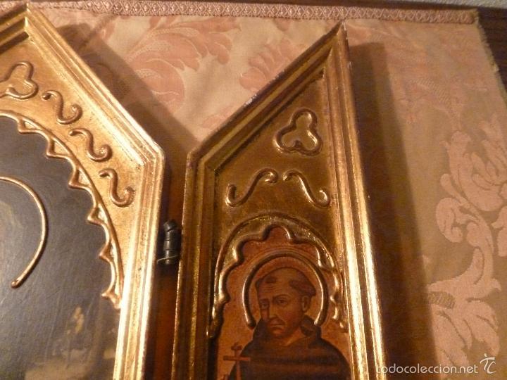 Arte: triptico religioso dorado - Foto 9 - 56618075