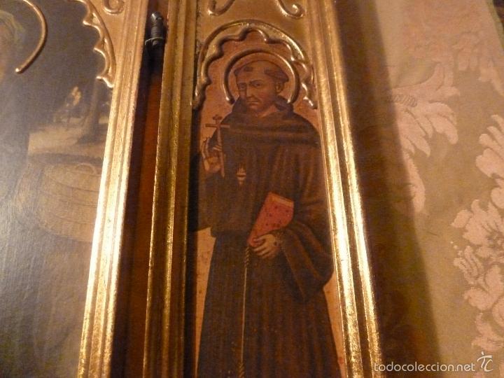 Arte: triptico religioso dorado - Foto 10 - 56618075