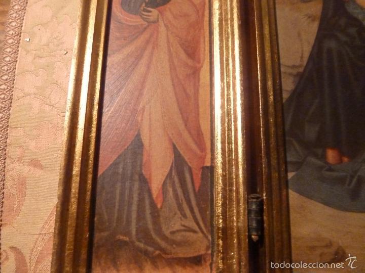 Arte: triptico religioso dorado - Foto 12 - 56618075