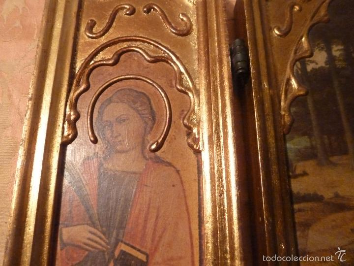 Arte: triptico religioso dorado - Foto 13 - 56618075
