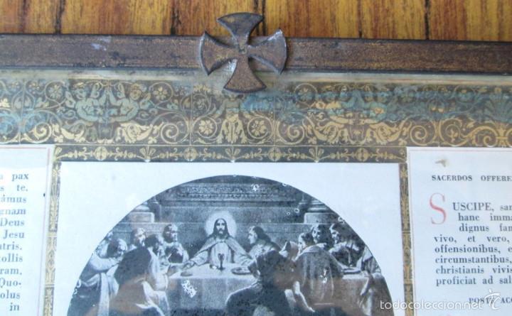Arte: TRICTICO RELIGIOSO - de latón - Foto 2 - 56658158