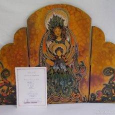 Arte: TRIPTICO RETABLO VIRGEN POR CARMEN PONCE DE LEON ARTE CONTEMPORANEO MEXICO. Lote 56659512