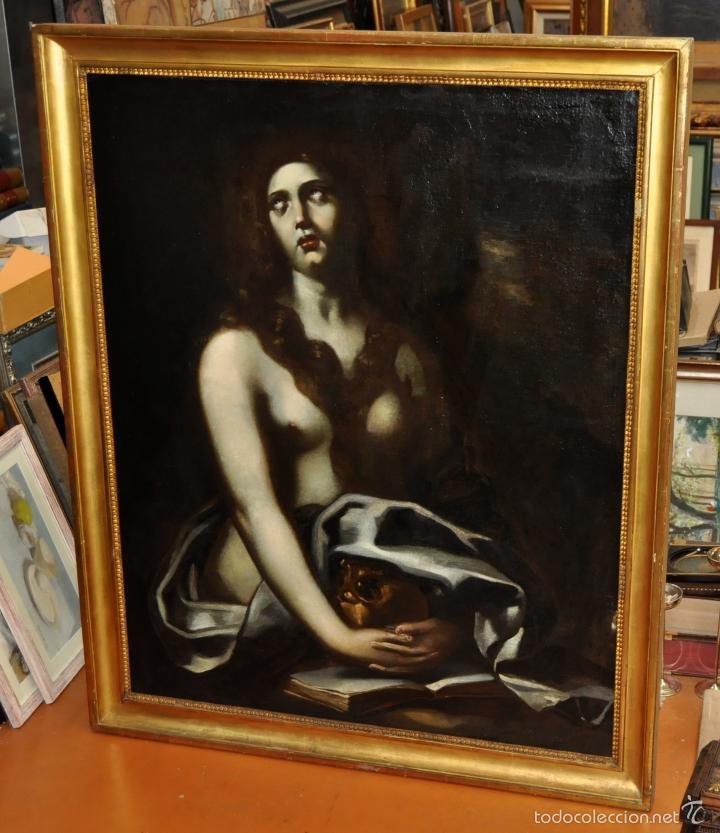 ESCUELA ITALIANA DE LA 2ª MITAD DEL SIGLO XVII. OLEO SOBRE TELA. MAGDALENA (Arte - Arte Religioso - Pintura Religiosa - Oleo)