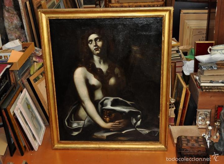 Arte: ESCUELA ITALIANA DE LA 2ª MITAD DEL SIGLO XVII. OLEO SOBRE TELA. MAGDALENA - Foto 3 - 56736971