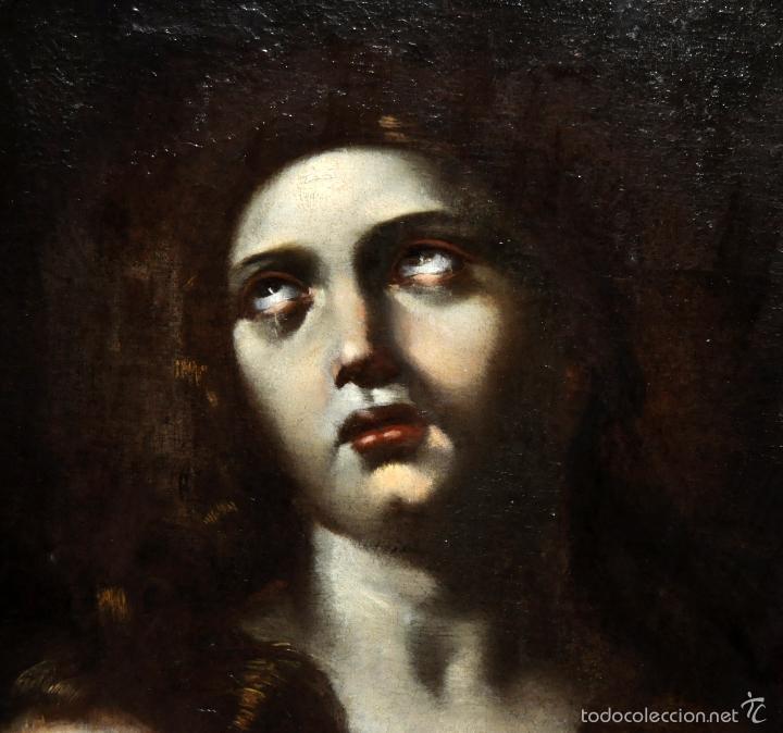 Arte: ESCUELA ITALIANA DE LA 2ª MITAD DEL SIGLO XVII. OLEO SOBRE TELA. MAGDALENA - Foto 4 - 56736971