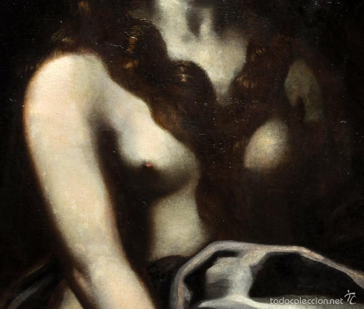 Arte: ESCUELA ITALIANA DE LA 2ª MITAD DEL SIGLO XVII. OLEO SOBRE TELA. MAGDALENA - Foto 5 - 56736971