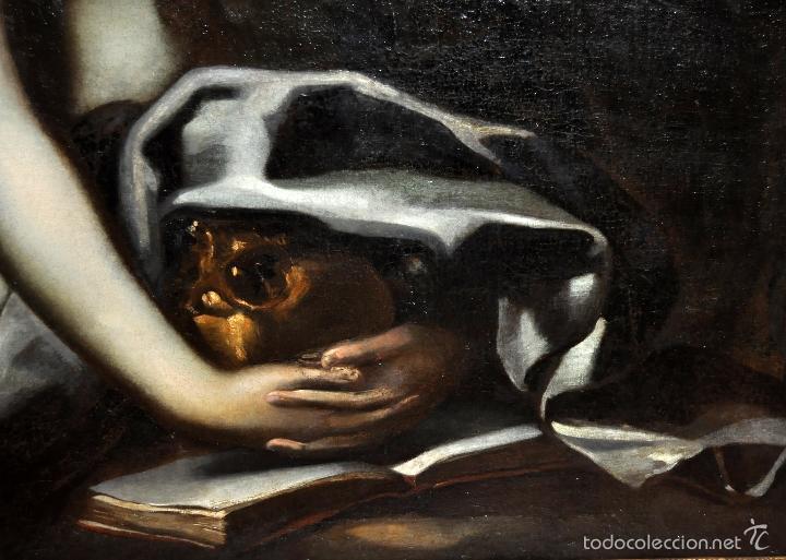 Arte: ESCUELA ITALIANA DE LA 2ª MITAD DEL SIGLO XVII. OLEO SOBRE TELA. MAGDALENA - Foto 7 - 56736971