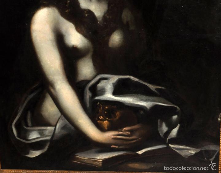 Arte: ESCUELA ITALIANA DE LA 2ª MITAD DEL SIGLO XVII. OLEO SOBRE TELA. MAGDALENA - Foto 8 - 56736971