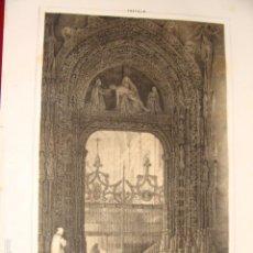 Arte: LITOGRAFÍA CARTUJA DEL PAULAR. PARCERISA 1853. ORIGINAL DE ÉPOCA. TAMAÑO PAPEL 21X30 CM.. Lote 56744353