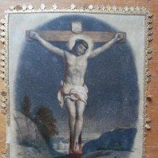 Arte: ESPECTACULAR GRABADO COLOREADO CRISTO. Lote 56796668