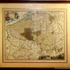 Arte: I3-038. BELGII PARS MERIDIONALIS. GRABADO ENRIQUECIDO A LA ACUARELA. N. VISCHER. 1685. Lote 56813302