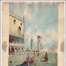 Arte: ACUARELA ORIGINAL DE MONTSERRAT VALLS REALIZADO EN JUNIO DE 1920. Lote 56829426