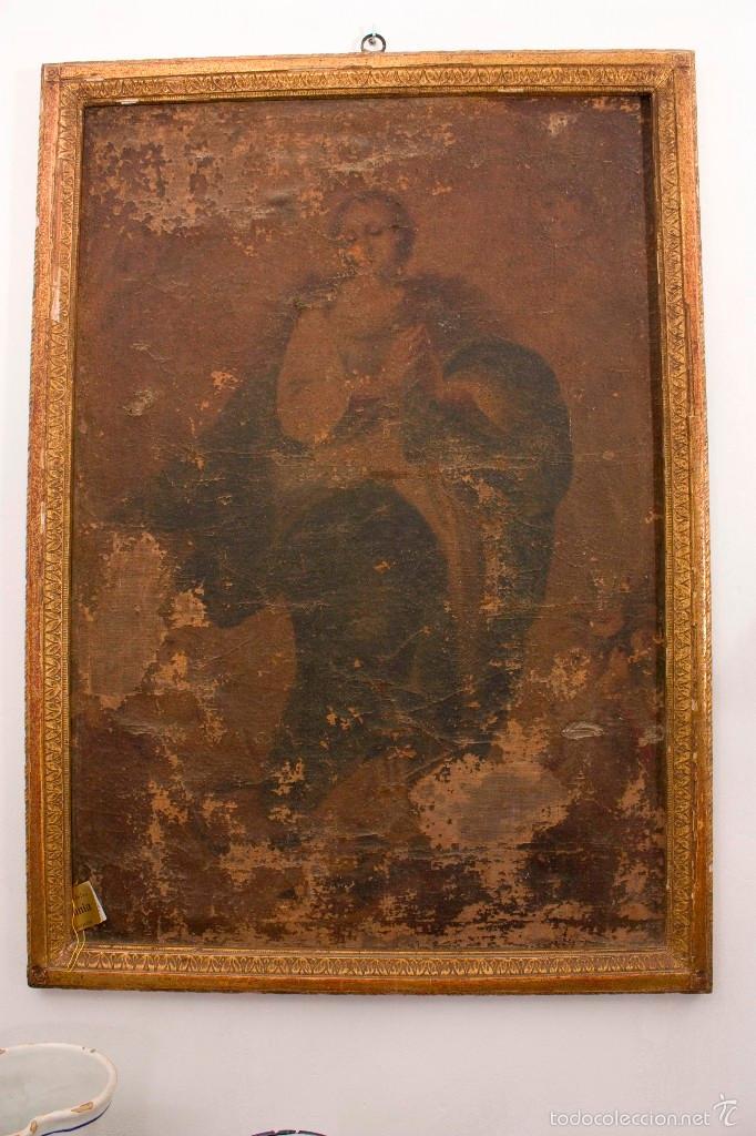 OLEO VIRGEN SXVIII (Arte - Arte Religioso - Pintura Religiosa - Oleo)