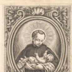 Arte: GRABADO DE S. STANISLAVS KOSTKA SOG. IESV. (BARCELONA SIGLO XVIII) GRABADOR IGNACIO VALLS, CATALUNYA. Lote 56923863