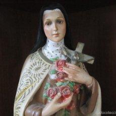 Arte: PRECIOSA Y ANTIGUA IMAGEN DE SANTA TERESITA DEL NIÑO JESÚS. SANTA TERESA DE LISIEUX DE 42,5 CM. Lote 56925601