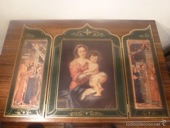 TRIPTICO RELIGIOSO DORADO (Arte - Arte Religioso - Trípticos)