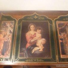 Arte: TRIPTICO RELIGIOSO DORADO. Lote 56934906