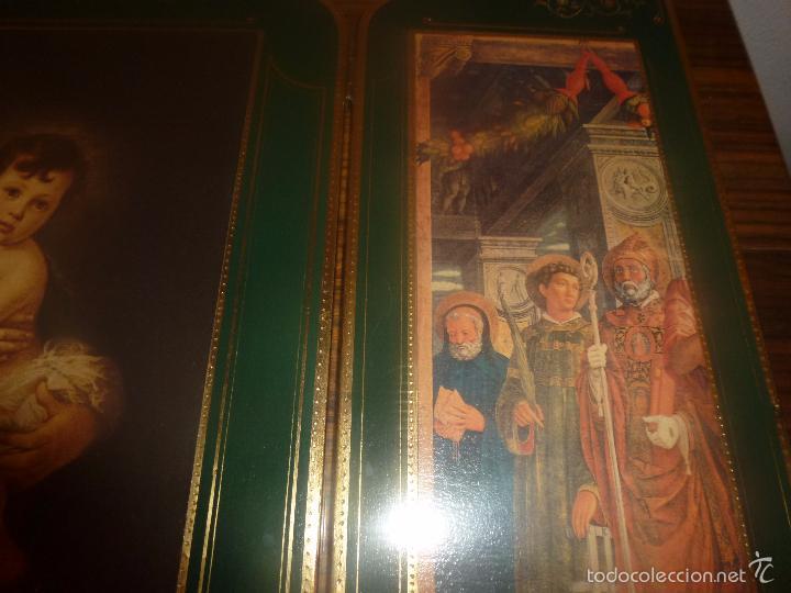 Arte: triptico religioso dorado - Foto 2 - 56934906