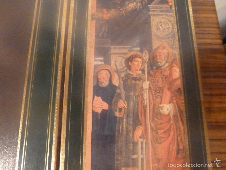 Arte: triptico religioso dorado - Foto 8 - 56934906