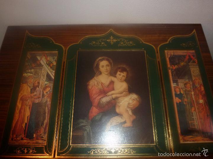Arte: triptico religioso dorado - Foto 9 - 56934906