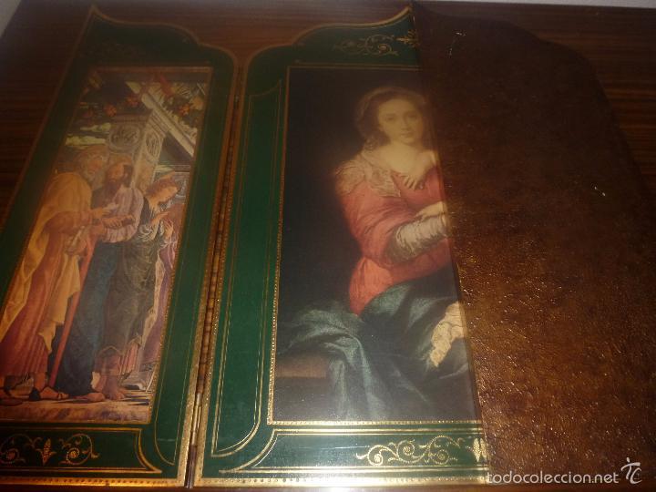 Arte: triptico religioso dorado - Foto 10 - 56934906