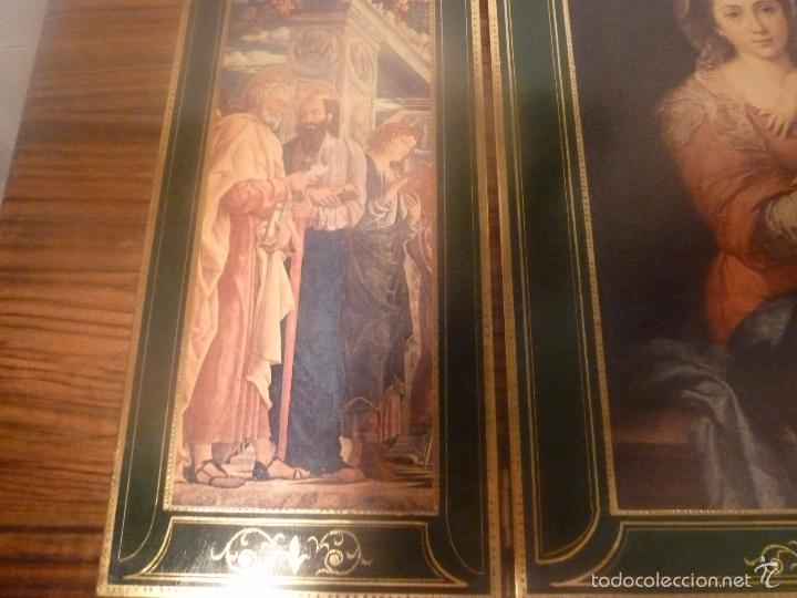 Arte: triptico religioso dorado - Foto 14 - 56934906