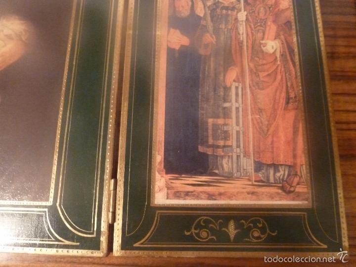 Arte: triptico religioso dorado - Foto 16 - 56934906
