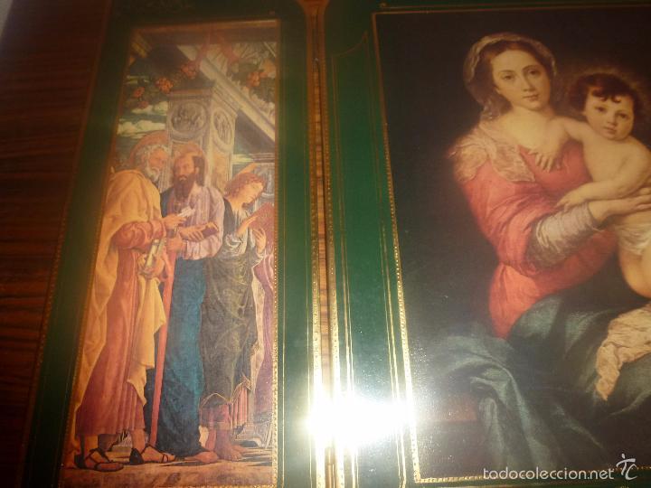Arte: triptico religioso dorado - Foto 21 - 56934906
