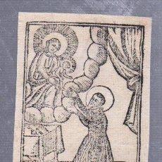 Arte: GRABADO RELIGIOSO. SAN ANTONIO DE PADUA. 6 X 9CM. Lote 56936735