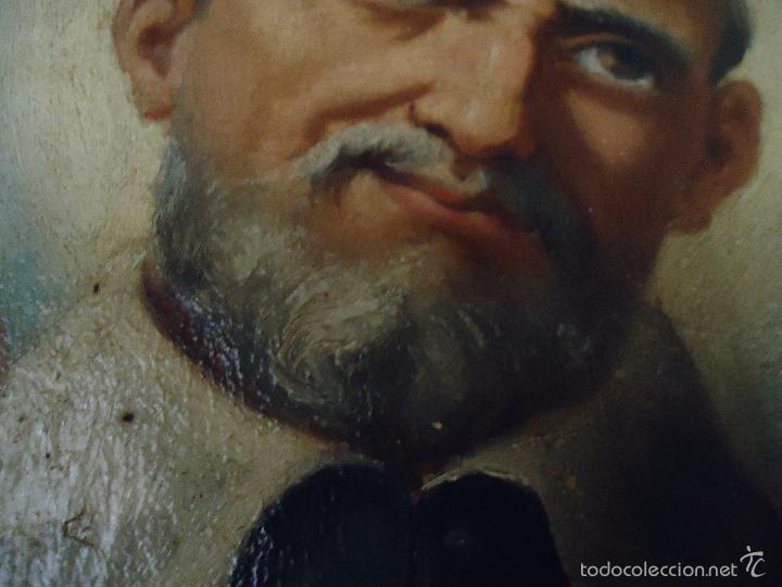 Arte: firmado año 1889 pintura francesa religiosa oleo san vicente de paul gran marco dorado - 100 x 77 cm - Foto 2 - 173414897