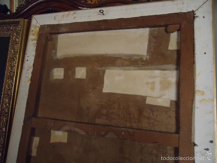Arte: firmado año 1889 pintura francesa religiosa oleo san vicente de paul gran marco dorado - 100 x 77 cm - Foto 7 - 173414897