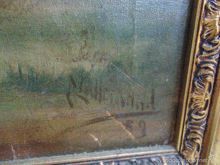 Arte: firmado año 1889 pintura francesa religiosa oleo san vicente de paul gran marco dorado - 100 x 77 cm - Foto 9 - 173414897