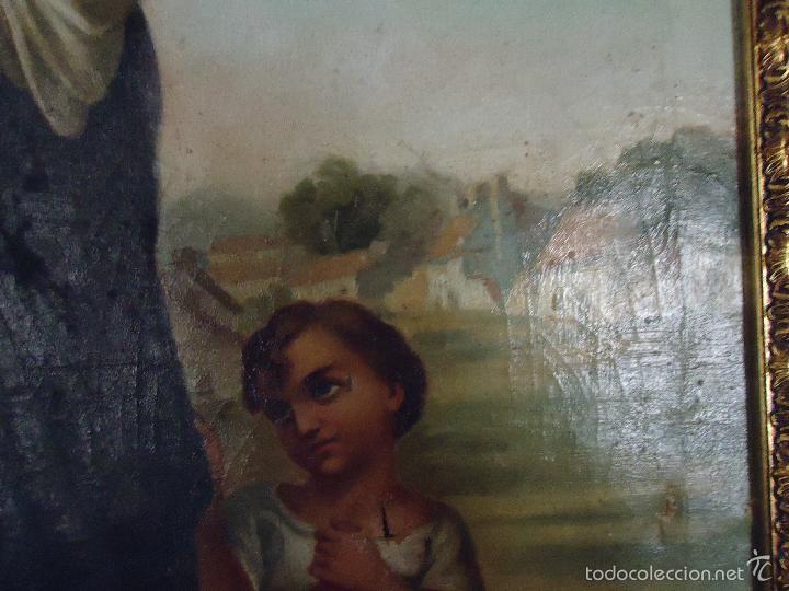 Arte: firmado año 1889 pintura francesa religiosa oleo san vicente de paul gran marco dorado - 100 x 77 cm - Foto 16 - 173414897