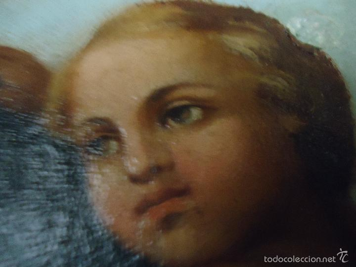Arte: firmado año 1889 pintura francesa religiosa oleo san vicente de paul gran marco dorado - 100 x 77 cm - Foto 17 - 173414897
