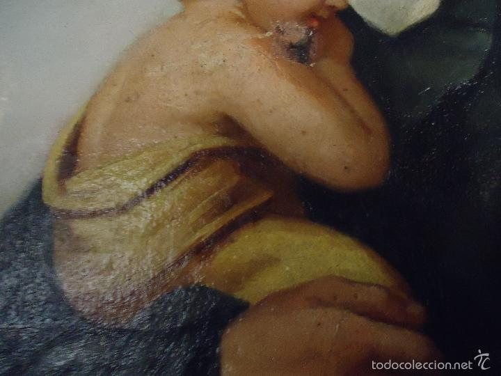 Arte: firmado año 1889 pintura francesa religiosa oleo san vicente de paul gran marco dorado - 100 x 77 cm - Foto 20 - 173414897
