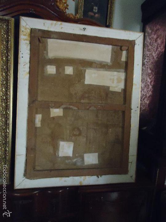 Arte: firmado año 1889 pintura francesa religiosa oleo san vicente de paul gran marco dorado - 100 x 77 cm - Foto 24 - 173414897