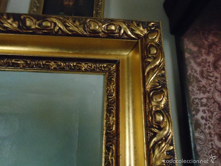 Arte: firmado año 1889 pintura francesa religiosa oleo san vicente de paul gran marco dorado - 100 x 77 cm - Foto 26 - 173414897
