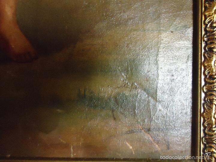 Arte: firmado año 1889 pintura francesa religiosa oleo san vicente de paul gran marco dorado - 100 x 77 cm - Foto 29 - 173414897