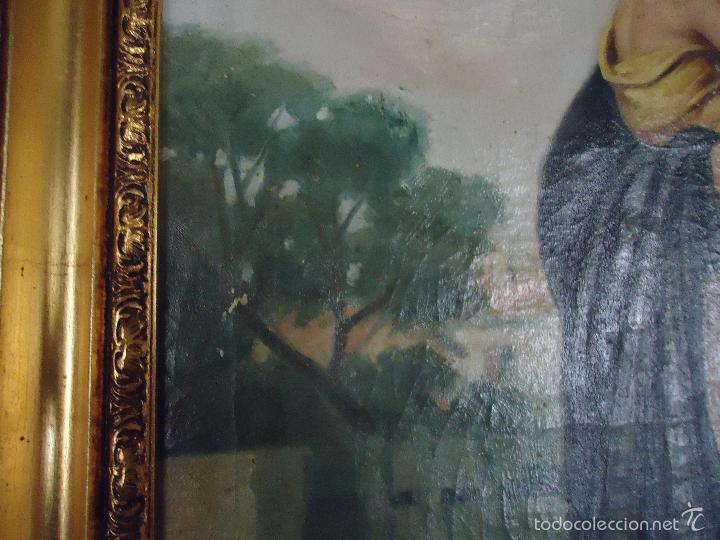 Arte: firmado año 1889 pintura francesa religiosa oleo san vicente de paul gran marco dorado - 100 x 77 cm - Foto 30 - 173414897