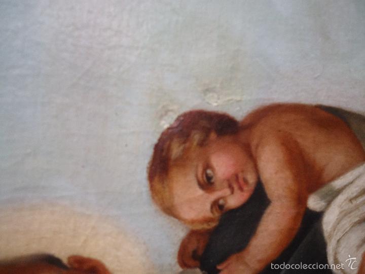 Arte: firmado año 1889 pintura francesa religiosa oleo san vicente de paul gran marco dorado - 100 x 77 cm - Foto 32 - 173414897