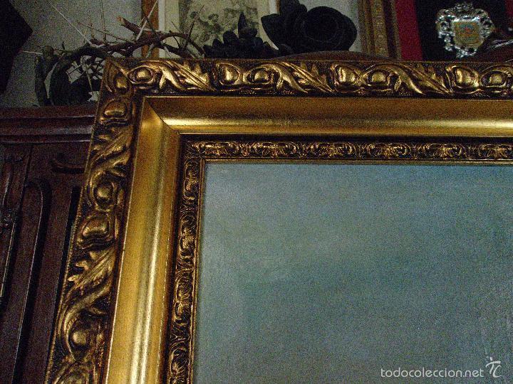 Arte: firmado año 1889 pintura francesa religiosa oleo san vicente de paul gran marco dorado - 100 x 77 cm - Foto 46 - 173414897