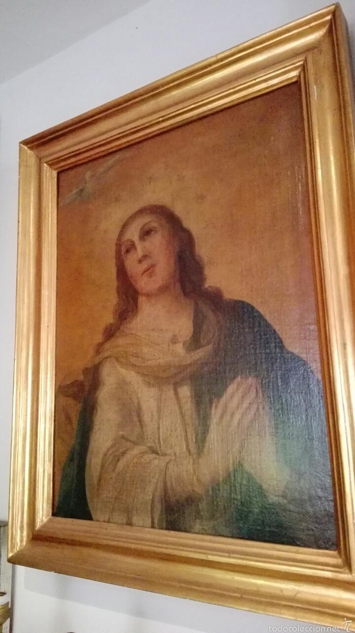 OLEO SOBRE LIENZO INMACULADA (Arte - Arte Religioso - Pintura Religiosa - Oleo)
