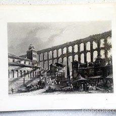 Arte: SÉGOVIE GRABADO AL ACERO DE CH LALAISSE. PARIS, C 1840. (GRABADO SEGOVIA. Lote 57003039