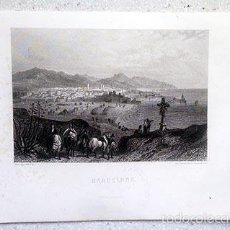 Arte: BARCELONE. GRABADO AL ACERO DE ROUARGUE FRÉRES. PARIS, C 1840. (BARCELONA. GRABADO XIX. Lote 57003478