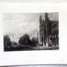 Arte: CADIX. GRABADO AL ACERO DE ROUARGUE FRÉRES. PARIS, CIRCA 1840. (CÁDIZ. GRABADO S XIX. Lote 57003793