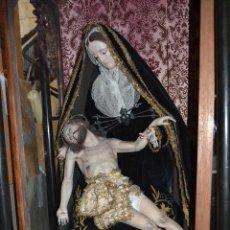 Arte: ESCULTURA RELIGIOSA EN TALLA MADERA SIGLO XIX PIEDAD 1,50 METROS ALTURA. Lote 57043192