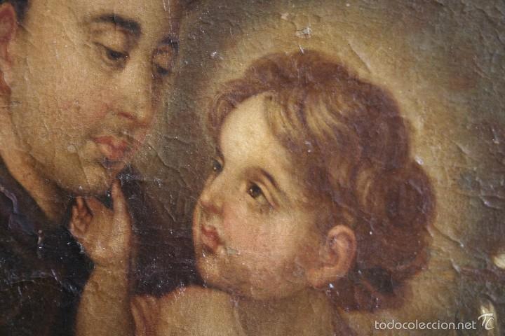 SAN ANTONIO DE PADUA CON EL NIÑO JESÚS (Arte - Arte Religioso - Pintura Religiosa - Oleo)
