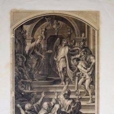 Arte: JESUS SORTIT DONC, PORTANT UNE COURONNE D'ESPINES. PINTOR RUBENS. GRABADOR M. AUBERT.. Lote 57088219
