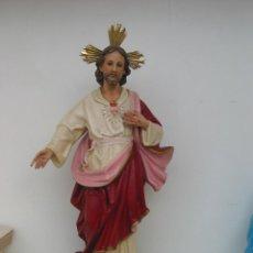 Arte: ANTIGUA FIGURA DE CORAZON DE JESUS. OLOT. PERFECTO ESTADO. Lote 57094486